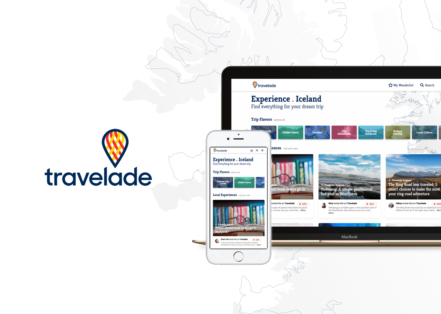 Travelade App for mobile and tablet